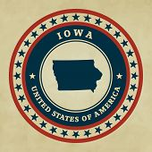 Vintage Label Iowa
