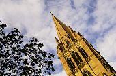 Artistic representation of a church in Melbourne