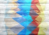 old color painted wooden wall