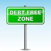 Vector Debt Free Signpost
