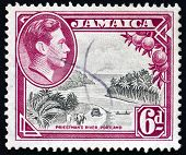 Postage Stamp Jamaica 1938 Priestman's River, Portland Parish