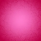 Seamless Floral Pink Abstract Hand-drawn Texture