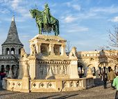 Statue Of Stephen I Of Hungary In Budapest