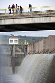 Spillway of the dam of the Yeguas, Cordoba province, Spain