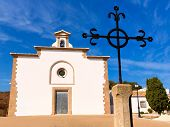 stock photo of calvary  - Javea Ermita del Calvari Calvario at Xabia Alicante in Spain - JPG