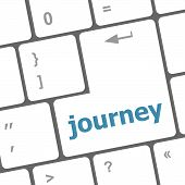 Computer Keyboard Keys With Journey Words