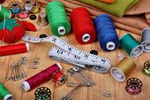 Background With Sewing Items