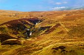 foto of lowlands  - Hilly landscape near Inverkip in Scotland - JPG