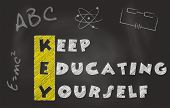 Keep Educating Yourself Slogan