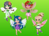 picture of pixie  - Pixie girls with wings and hair accessories - JPG