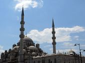 The Yeni Cami Mosque In The Sultan Ahmed District Of Istanbul