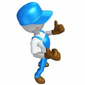 3D Worker Character