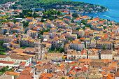 Hvar Old Town Center Aerial View