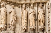 Sculptures At The Cathedral Notre Dame In Reims