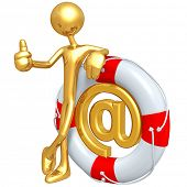 Gold Guy With Life Preserver Email
