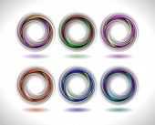 Abstract Colorful Swirl Collection
