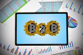 Tablet With B2B Concept