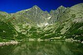 Skalnate pleso - tarn in High Tatras mountains, Slovakia