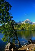 Strbske pleso - tarn in High Tatras, Slovakia
