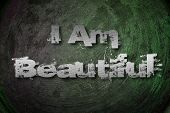 I Am Beautiful Concept