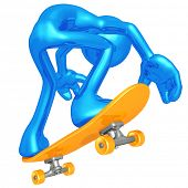 3D Character Skateboarding