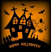 Holiday Illustration On Theme Of Halloween. Wishes For Happy Halloween. Trick Or Treat