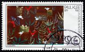Postage Stamp Germany 1979 Birds In Garden, Painting