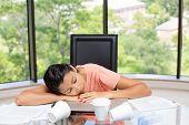 Napping Employee
