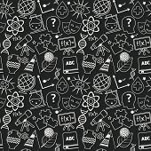 Education seamless pattern chalkboard