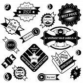 Sale labels black