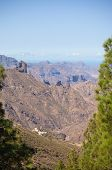 stock photo of parador  - Gran Canaria Caldera of Tejeda view from Cruz de Tejeda viewpoint - JPG