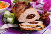 Roasted Pork Loin Stuffed With Prune