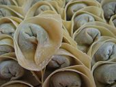 picture of wanton  - Homemade chinese dumpling or wanton ready to be cooked and eaten - JPG