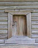 Old Wooden Barn Door