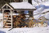 Snowy Woodshed