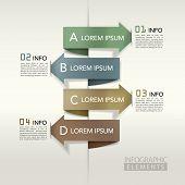 Modern Arrow Bar Chart graphic Elements