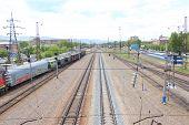 Zlobino station.Railroad. Krasnoyarsk