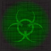 image of bio-hazard  - Bio hazard sign with a heavy green grunge - JPG
