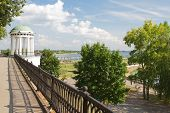 Gazebo On The Volga Embankment In The City Of Yaroslavl.