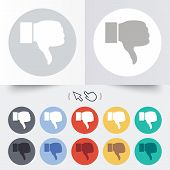 Dislike sign icon