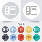 Document folder sign. Accounting binder symbol.