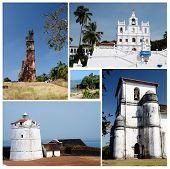 Collage Of North And South Goa State Popular Travel Destinations,india  - Panaji,old Goa, Candolim poster