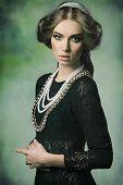 Aristocratic Retro Woman With Jewellery