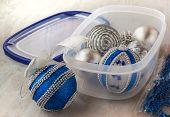 Christmas Balls On Box