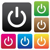 Colorful Power Icons