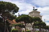 Park Near  The Monument To Victor Emmanuel Ii. Piazza Venezia, Rome  , Italy