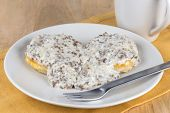 stock photo of biscuits gravy  - Southern style sausage gravy and biscuits for breakfast - JPG