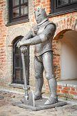 Medieval Knight  Near Castle