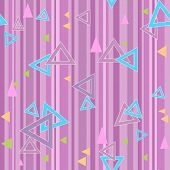 Abstract Triangles Seamless Pattern Background Texture