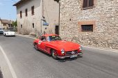 Mercedes-benz 300 Sl W 198 (1955) Runs In Mille Miglia 2014